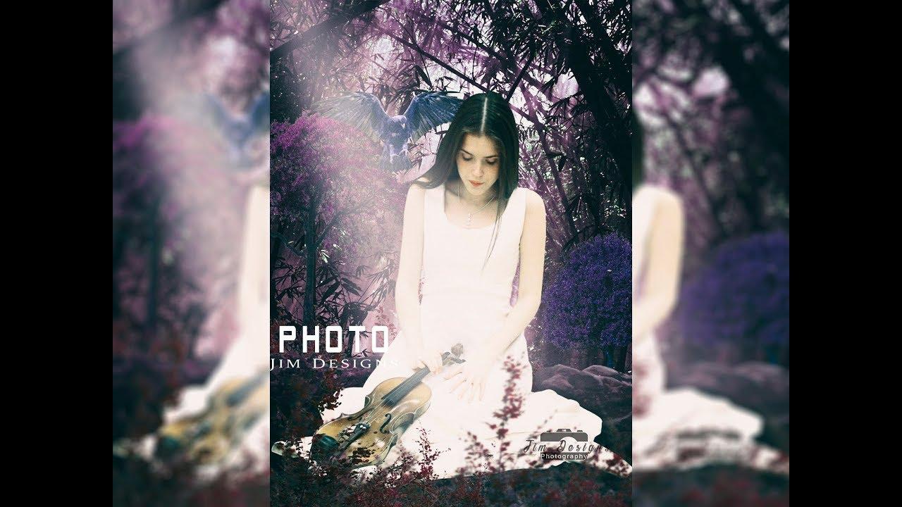 Photoshop CC Foto Manipulacion La Chica Triste Con Su Violin