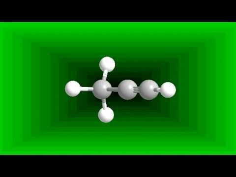 Propine: Molecular structure (C3H4) - YouTube