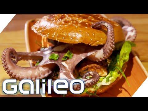 Wie Schmeckt Octopus-Burger? Die Neuesten Burger-Trends! | Galileo | ProSieben