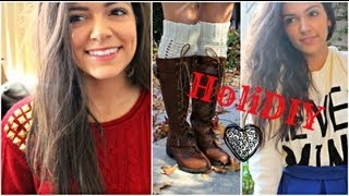 HoliDIY: Renovate your sweaters for the Holidays!