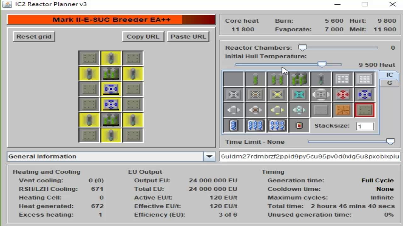 IC2 Reactor Planner v 3(ukážka programu)