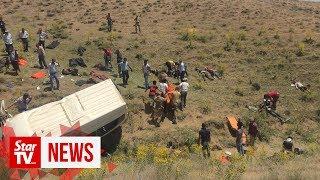 Fifteen migrants killed in southeastern Turkey bus crash