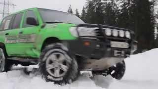 Тест драйв подготовленного Toyota land Cruiser 100