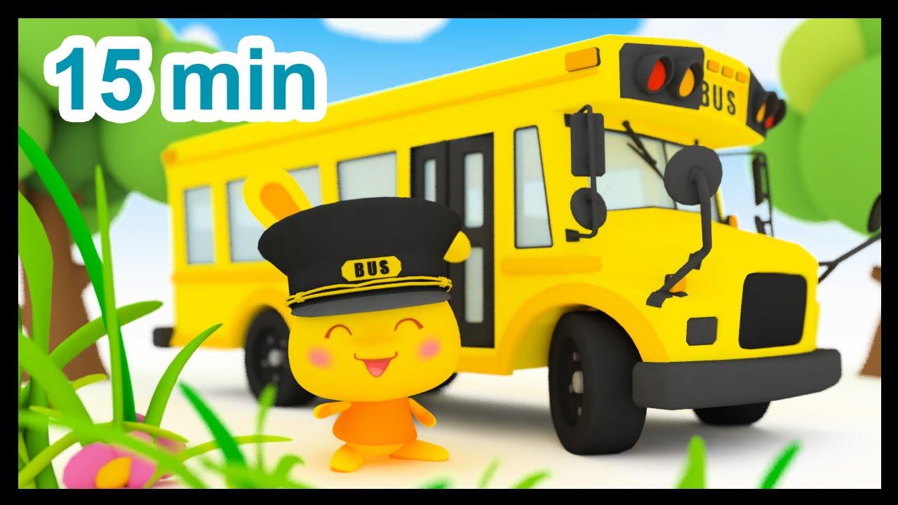 Les roues de l'autobus - 15 min de comptines - Méli et Touni - Titounis #1