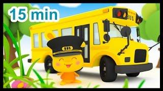 Repeat youtube video Les roues de l'autobus - 15 min de comptines - Méli et Touni - Titounis