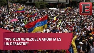 Manifestaciones paralizan la ciudad de Caracas, Venezuela