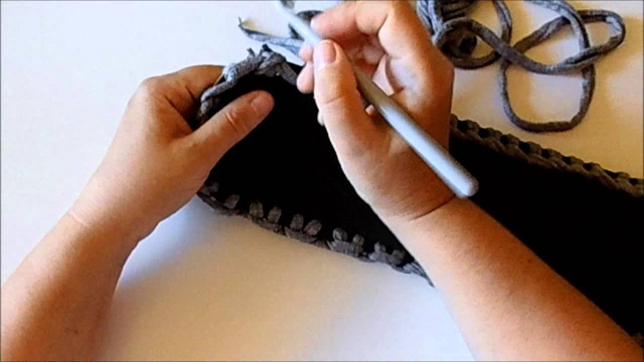 0d8d8c95fe Uncinetto tutorial come realizzare il fondo di una borsa - YouTube