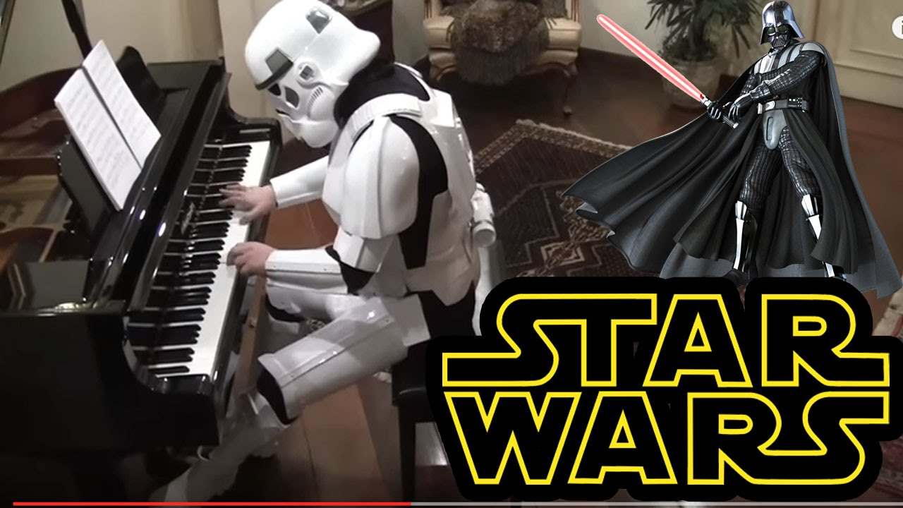 Starwars The Imperial March On Piano Darth Vaders Theme Youtube