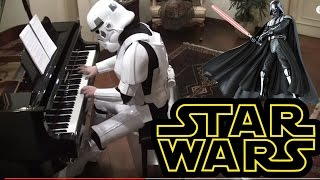 Starwars, The Imperial March on Piano  ( Darth Vader