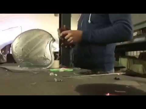 Custom Painted Air Brushed Cafe Racer Inspired Motorbike Helmet