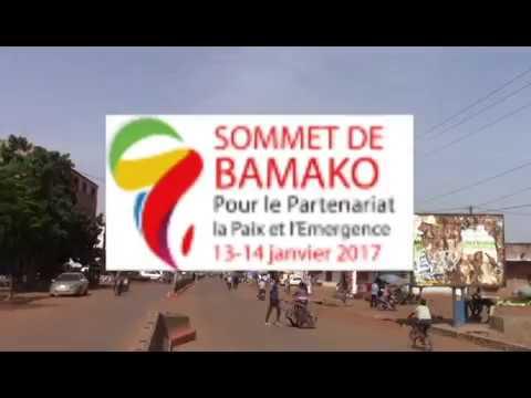 Sommet Afrique France A BAMAKO et infrastructures en mode.