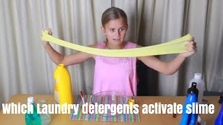 TESTING WHICH AUSTRALIAN LAUNDRY DETERGENT ACTIVATES SLIME   do they all work   no more B