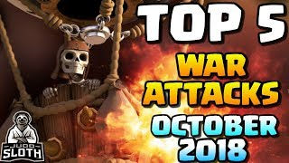 TOP 5 War Attacks OCTOBER 2018!! *Clash of Clans*