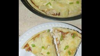 Пицца. Рецепт пиццы с курицей и ананасами. Рецепт пиццы с тестом на кефире.