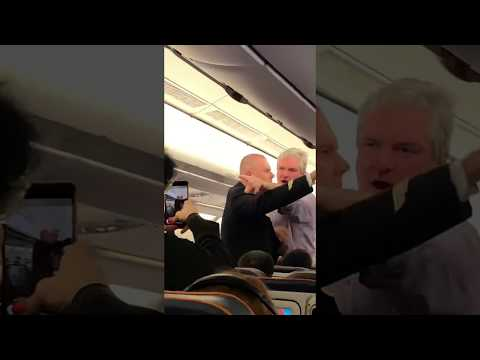 A.D. - Angry Man on a Plane Aggressively Tries to Shake Someone's Hand