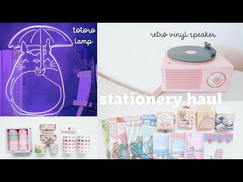 STATIONERY HAUL ASMR ft. Kuma Stationery 2021 ~ aesthetic