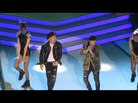 [HD] 150101 GD & Taeyang - Good Boy (GD smack YB butt) - BIGBANG Singapore SG50 Countdown