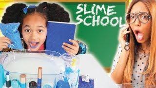 SLIME SCHOOL - MAKEUP SLIME Mixing - New School