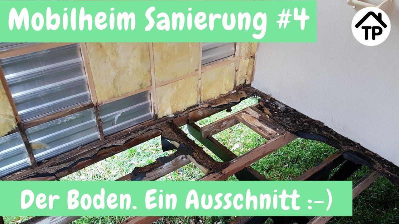 Fußboden Sanieren Aufbau ~ Mobilheim sanierung #4 der boden youtube