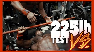 Craziest 225 Bench Press challenge .. Who's  the Real Saiyan