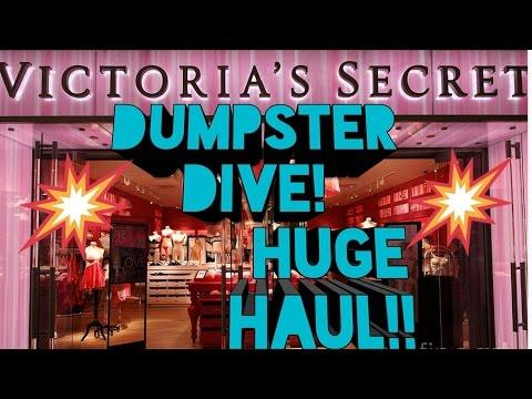HUGE VICTORIA'S SECRET DUMPSTER DIVING HAUL!!