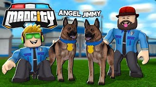 ADOPTING CUTE POLICE DOGS AND GIVING THEM NAMES in ROBLOX MAD CITY