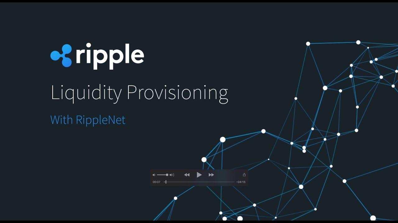 xrapid userà ripple per ottenere liquidità in tempo reale