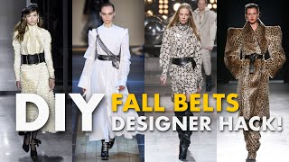How To Make FALL Belts (Right Off the RUNWAY!) -By Orly Shani