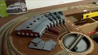 U6 Spur N Großstadt Anlage im Bau, Drehscheibe mit Sound, Lokschuppen