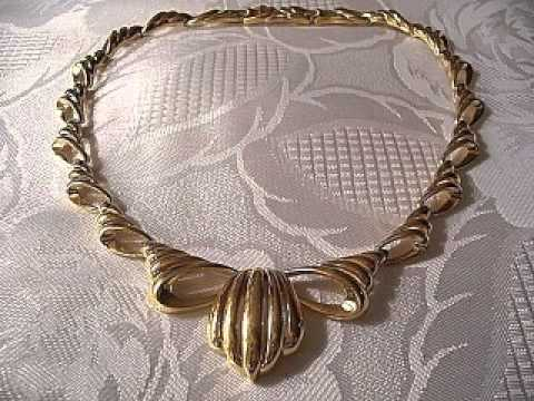 monet necklaces chokers link chains gold silver vintage