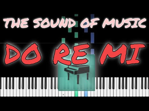 THE SOUND OF MUSIC, DO RE MI, PIANO TUTORIAL thumbnail