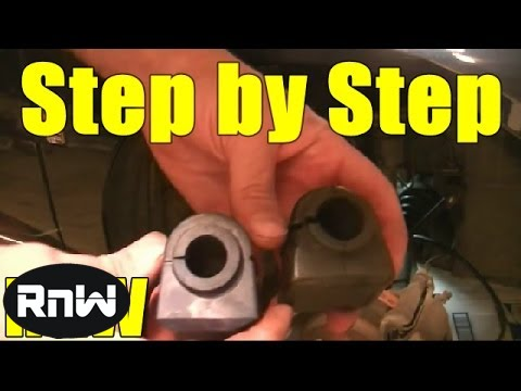 How To Replace Sway Bar Bushings Youtube
