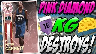 NBA 2K18 MYTEAM PINK DIAMOND KEVIN GARNETT GAMEPLAY! DIDN'T THINK IT  WAS POSSIBLE!