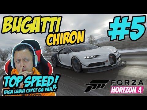 TEST TOP SPEED BUGATTI CHIRON !! - FORZA HORIZON 4 INDONESIA #5