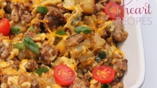 Breakfast Sausage, Potato, And Egg Scramble - I Heart Recipes