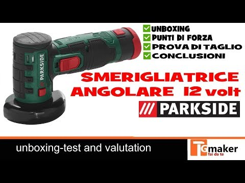 Parkside pwsa 12 li a1 rebarbadora bateria smeriglia for Smerigliatrice angolare lidl