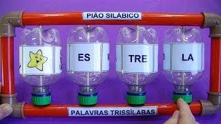 PIÃO SILÁBICO RECICLADO - CONSTRUÇÃO DE PALAVRAS