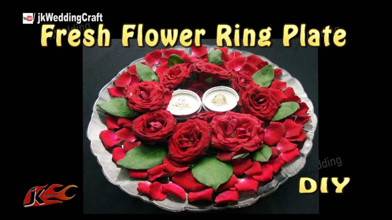 DIY Ring Plate Decoration with fresh flowers