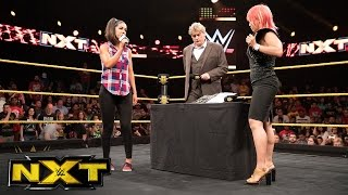 Bayley and Asuka sign their contract for TakeOver: Brooklyn II: WWE NXT, Aug.10, 2016