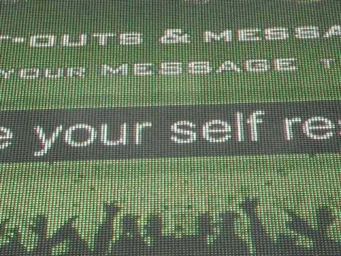 Rock on the Range 2009 funny text message billboard screen