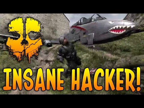 Cod Ghosts! INSANE HACKER! (Changes GTs In Lobby, Flying, 5x Throwing Knifes, Planes In Map + More)