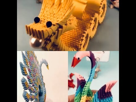 DIY PAPER CRAFTS: ORIGAMI CRAFT IDEAS FOR CUTE DRAGON 🐉 SHIP|CUTE 🦉 OWL|CUTE PETS|CUTE PEACOAT
