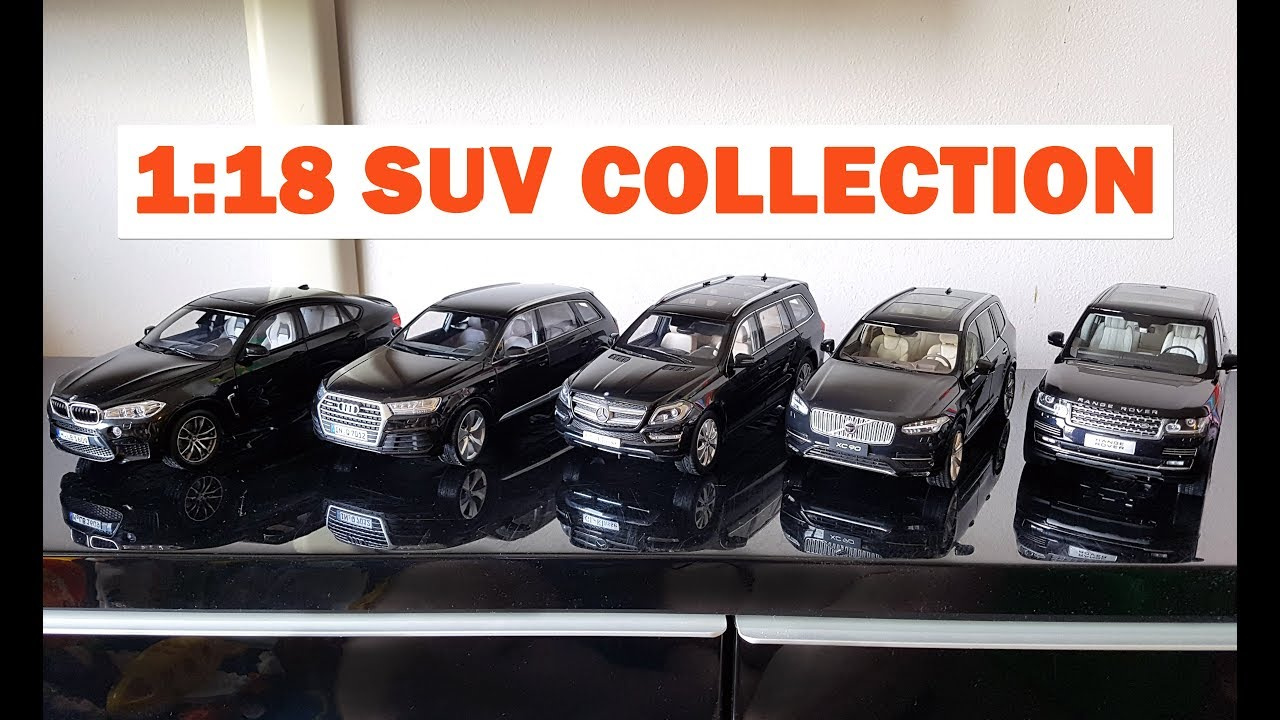 Diecast SUV collection - comparing my black 1:18 cars