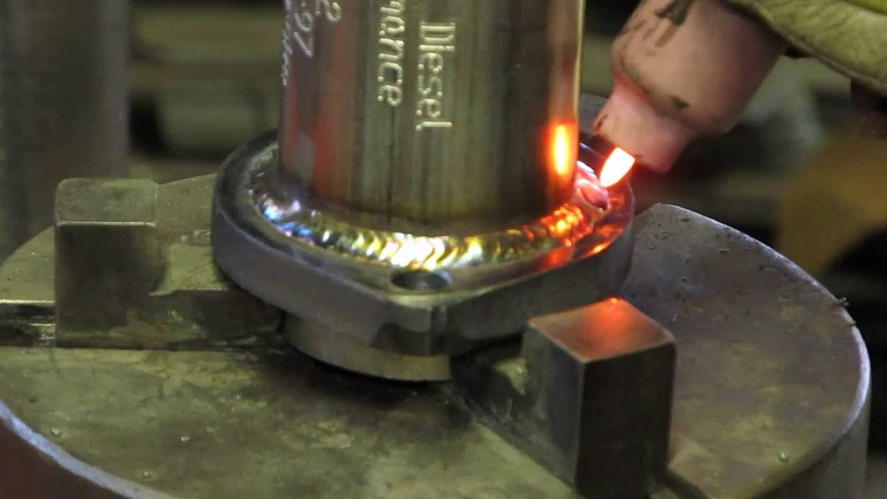 Stainless Turbo Pipe Flange Tig Welding Youtube