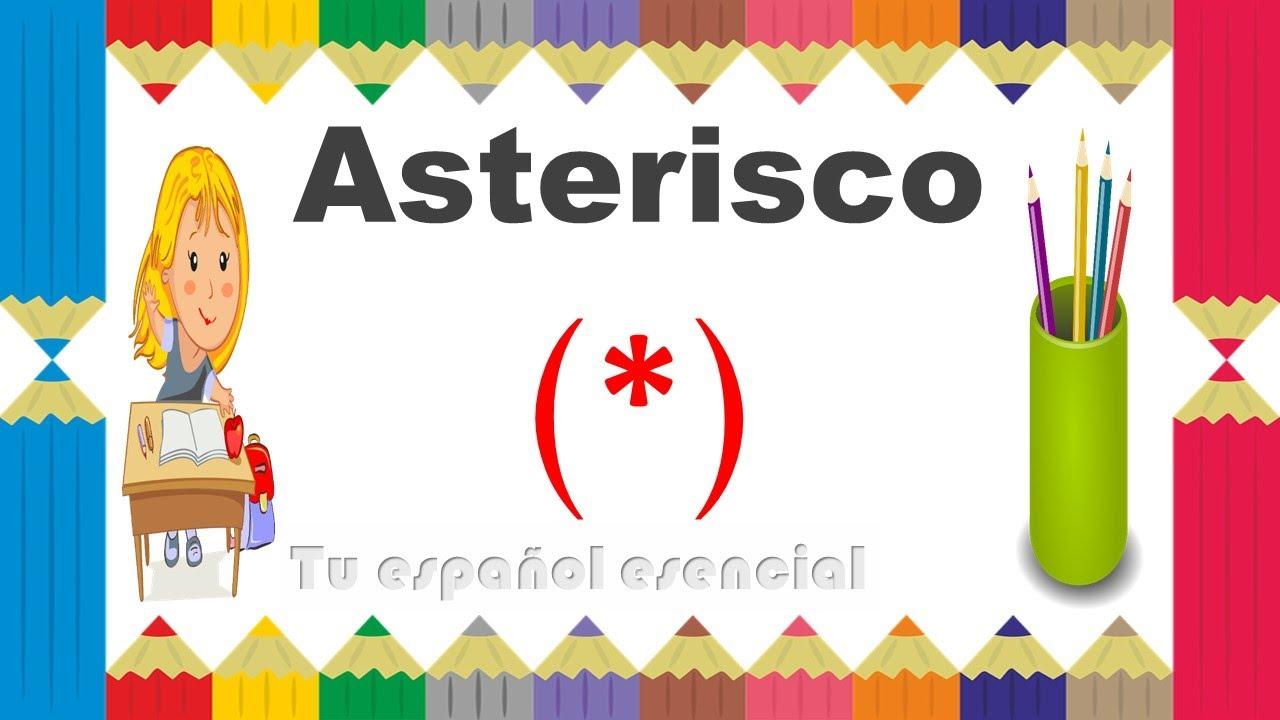 Cul Es Su Funcin  El Asterisco  Con Ejemplos - Youtube-8879