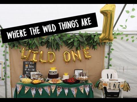 WHERE THE WILD THINGS ARE BIRTHDAY | RICHIE'S WILD ONE