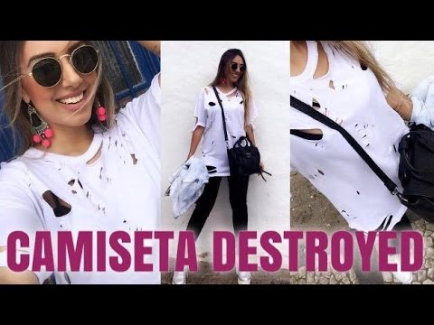 DIY: Camiseta Destroyed