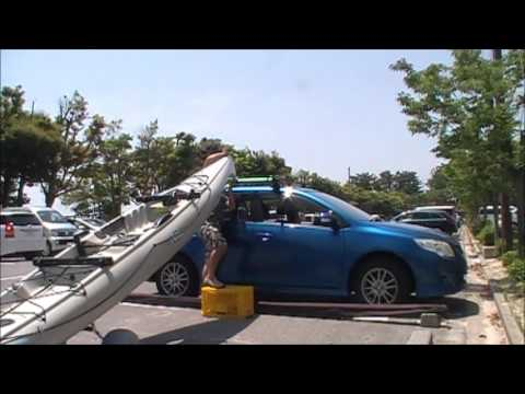 Loading Kayak On Car Top Hobie Adventure Island Youtube