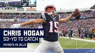 Tom Brady Launches Rainbow Pass to Chris Hogan for a 53-Yard TD!   Patriots vs. Bills   NFL