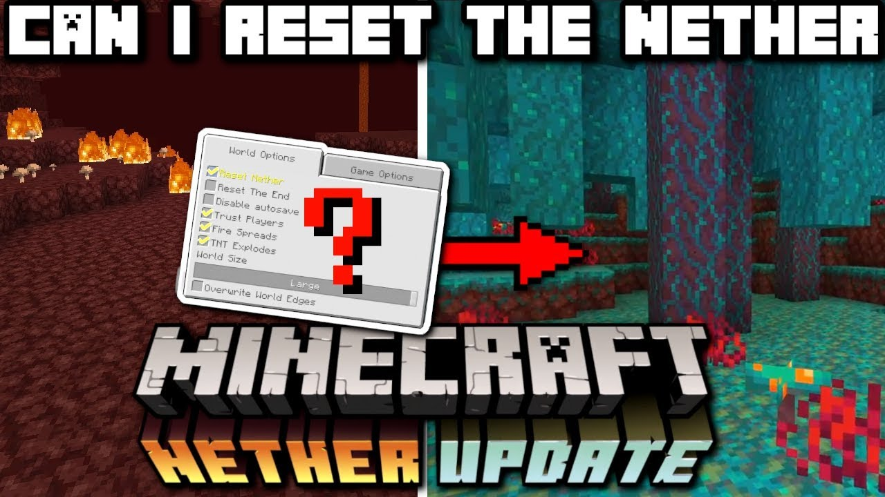 Minecraft - CAN I RESET THE NETHER ? ( How ? ) NETHER UPDATE ( Explained )  Bedrock / Java